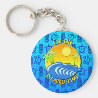 I Am On Island Time Basic Round Button Keychain