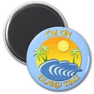 I Am On Island Time Magnet