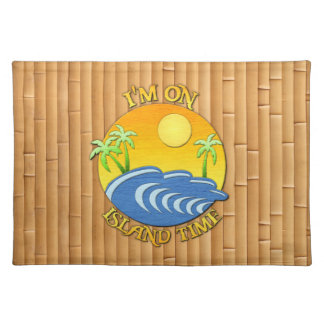 I Am On Island Time Place Mats