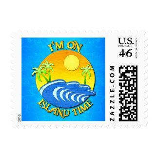 I Am On Island Time Postage Stamp