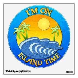 I Am On Island Time Wall Sticker