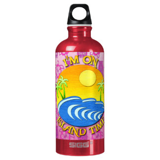 I Am On Island Time Water Bottle