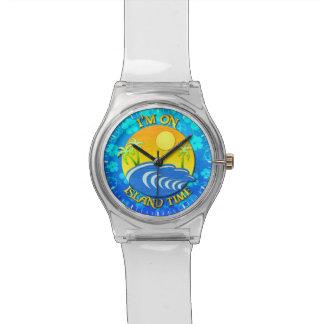 I Am On Island Time Wristwatch