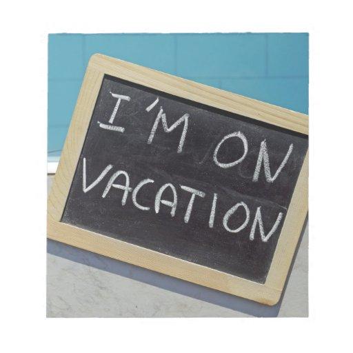I am on vacation notitieboeken