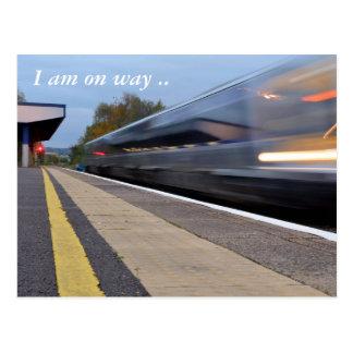 I am on way postacrd postcard