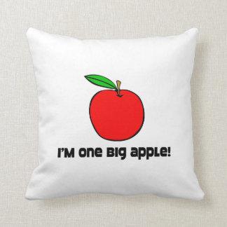 I Am One Big Apple Throw Pillows