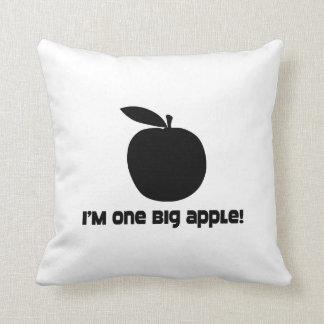 I Am One Big Apple Throw Pillow