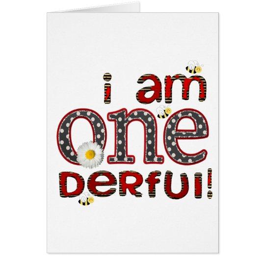 I Am ONE-derful Card