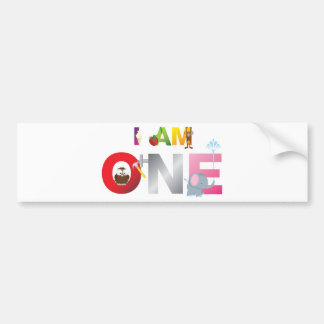 i am one gifts for children bumper stickers