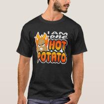 I Am One Hot Potato Funny Retro Vegan T-Shirt