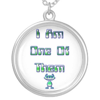 I am one of them round pendant necklace