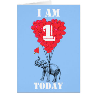 I am one today card