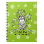I am ONE with the tree Spiral Note Books