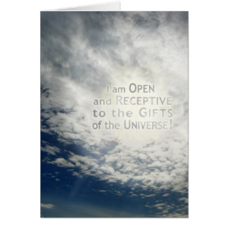 I Am Open and Receptive - Card