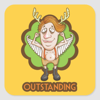 I am Outstanding Square Sticker