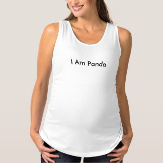 I Am Panda Maternity Tank Top