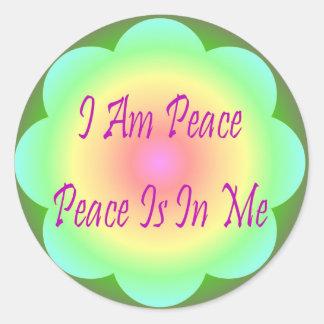 I Am Peace Sticker