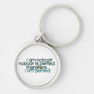 I Am Perfect Key Chain