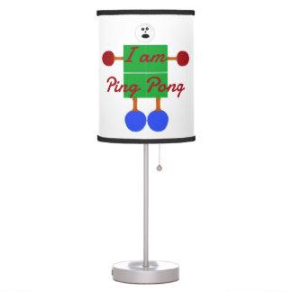 I am Ping Pong Cartoon Table Lamp