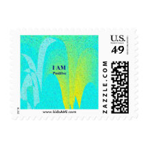 """""""I AM Positive"""" 1.8"""" x 1.3"""", $0.49 (1st Class 1oz) Postage Stamps"""