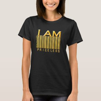 'I Am Priceless' Barcode (Gold Solid) Shirt