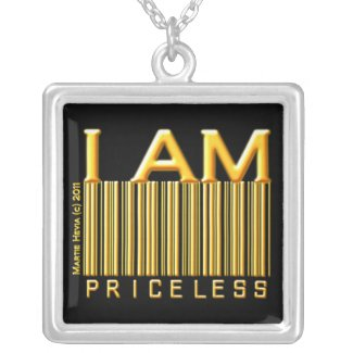 'I Am Priceless' Barcode Necklace