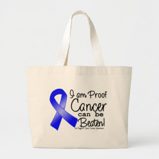 I Am Proof Anal Cancer Can Be Beaten Jumbo Tote Bag