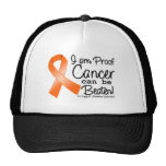 I Am Proof Leukemia Cancer Can Be Beaten Trucker Hat