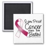 I Am Proof Throat Cancer Can Be Beaten Fridge Magnet