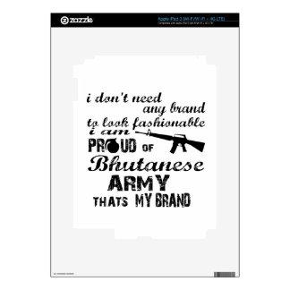 I am proud of Bhutanese army iPad 3 Skin