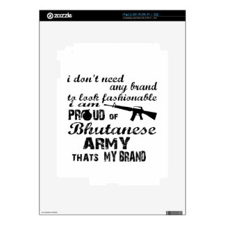 I am proud of Bhutanese army Decal For iPad 2