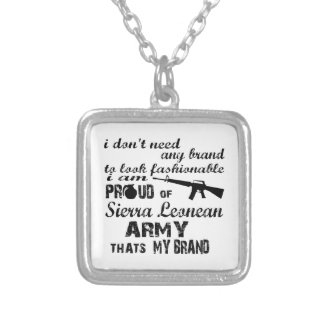 I am proud of Sierra Leonean army Custom Necklace