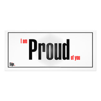 I am proud of you rack card