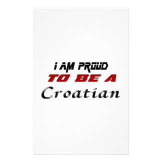 I am proud to be a Croatian. Stationery