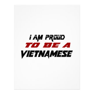 I am proud to be a Vietnamese Letterhead