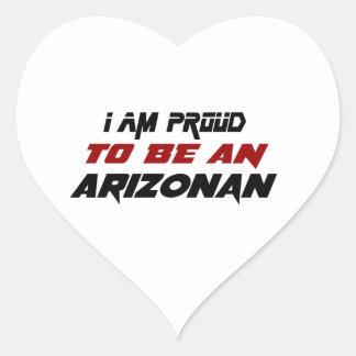 I am proud to be an Arizonan Heart Sticker