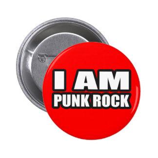 I AM PUNK ROCK guys girls punk music Button