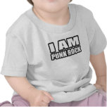 I AM PUNK ROCK guys girls punk music Shirts
