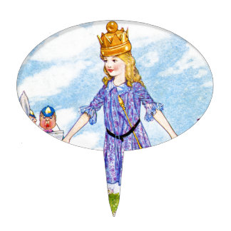 I am Queen Alice in Wonderland Cake Topper