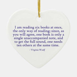 I Am Reading Six Books At Once Ceramic Ornament