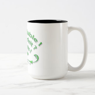 I'am Reliable Green and Back White - Mug