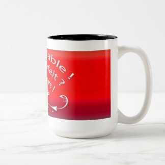 I am Reliable White with Back Red graduated Mug
