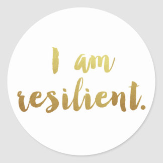 I Am Resilient Classic Round Sticker