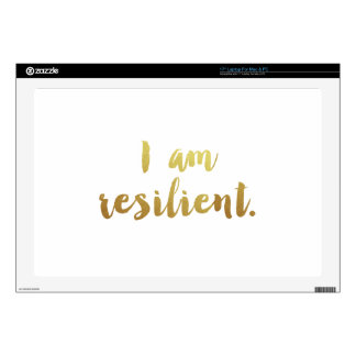 I Am Resilient Laptop Skin