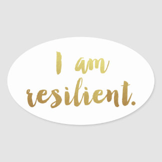 I Am Resilient Oval Sticker