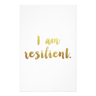 I Am Resilient Stationery