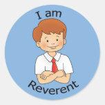 I am Reverent Classic Round Sticker