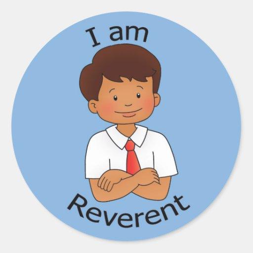 I am Reverent Round Stickers