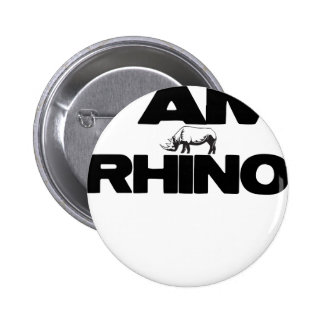 I AM RHINO 2 INCH ROUND BUTTON