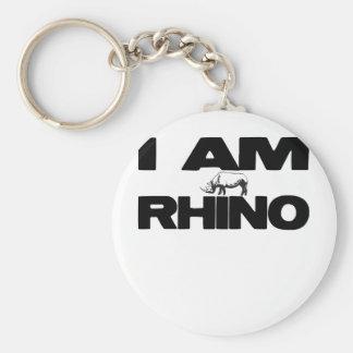 I AM RHINO KEYCHAINS